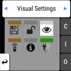Cursor on Visual tab in Input Section